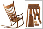Sculptured Rocking Chair Walnut Parts Kit