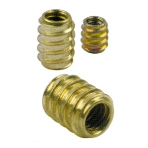 Brass Plated Threaded Inserts - Pack of 10