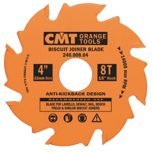 CMT 4 in. 8T Biscuit Joiner Blade 102331