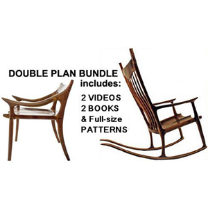 maloof inspired rocking chair plans