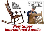 Sam Maloof Inspired Rocker DVD Plan Bundle and Shaping DVD 208832