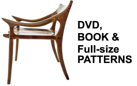 Sam Maloof Inspired Lowback Dining Chair DVD book 208821