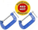 4 inch C-clamps