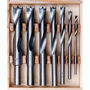 Carbide-Tipped Brad Point Bit Set 475350