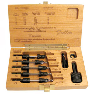 Fuller No. 10 Quick Change Taper Drill Bit Set 175609