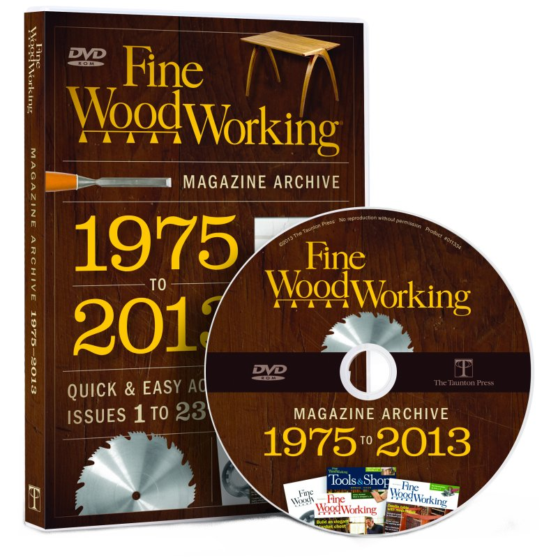 Fine Woodworking Magazine Archive 1975-2013 DVD-ROM 220486