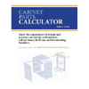 Cabinet Parts Calculator DVD ROM 220905
