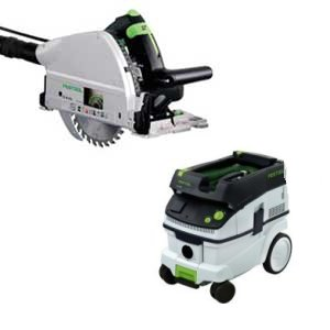 Festool TS 55 EQ Plunge Cut Circular Saw w/ CT26 Vacuum 720257