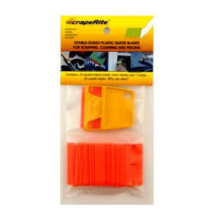 ScrapeRite Orange General Purpose Blades w/Holder PK/25 188351