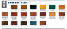 Solar-Lux NGR Stain Color Chart