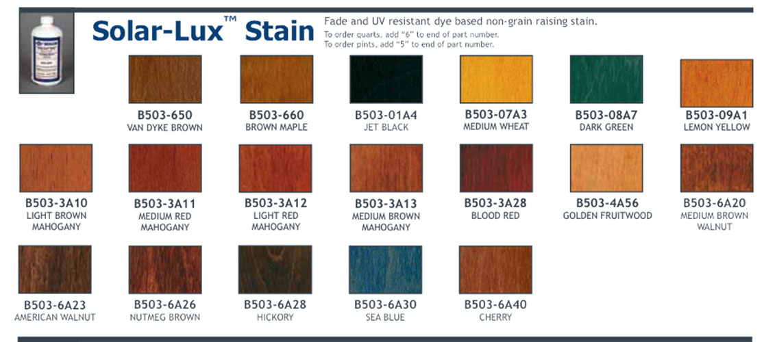 Solar Lux Ngr Stain Wood Stain