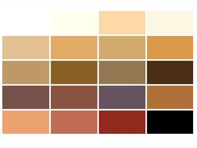 SoftWax Color Chart