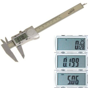 6 in. Polycarbonate Fractional Digital Caliper 168312