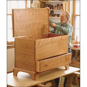 Wood tool truck lumber rack design shaker blanket chest for Shaker bed plans