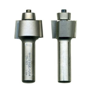 Whiteside Set of 2 Maloof 5° Rabbet Bits - 1/2 in. Shank 105256