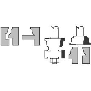 Sash & Rail Cutter Set   CMT Router Bits