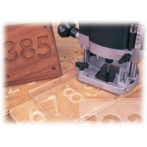 Trend number routing template set router accessories for Router lettering template sets
