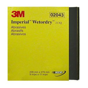 3M Imperial Wet or Dry Sandpaper - Finer Grits - Pack of 50