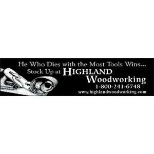 Black He Who Dies Most Tools Wins, Bumper Sticker, 105521