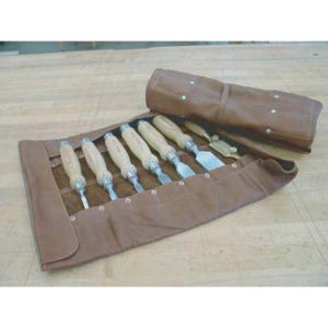 Large Deluxe Leather Chisel Roll 116403