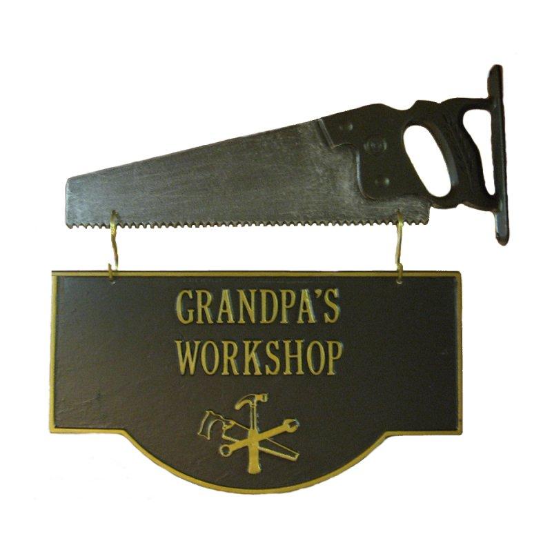 Grandpa S Workshop Sign Hanging Shop Sign