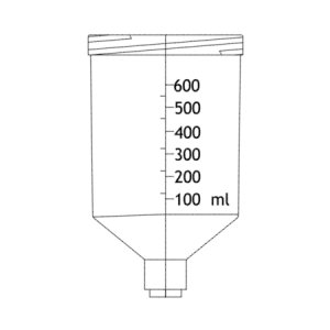 Cup for Shop Fox HVLP Spray Gun 331003
