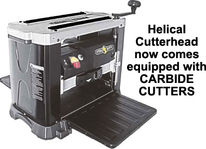 Steel City Portable Planer 13 inch Helical Head with CARBIDE CUTTERS 40300HC