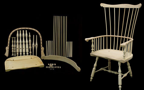 Philadelphia Arm Windsor Chair Kit  178005