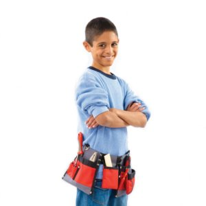 Red Toolbox Kids Tool Set  Tool Belt