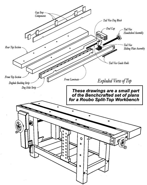 ... plans for a roubo split top workbench full set of plans only $ 20 00