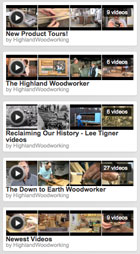 Highland Woodworking YouTube Channel