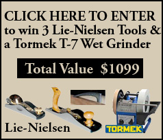 Lie-Nielsen and Tormek Giveaway