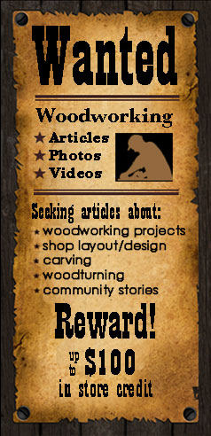 Woodworkers Wanted for Submissions