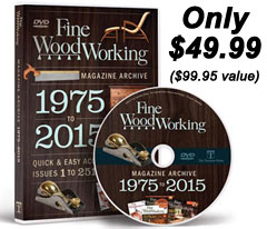 Fine Woodworking Magazine Archive 1975-2015 DVD