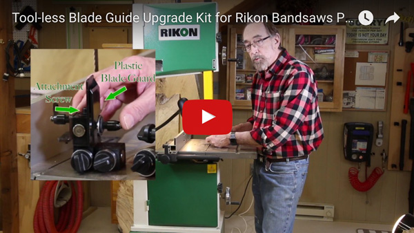 Rikon Blade Guide Upgrade Kit Video