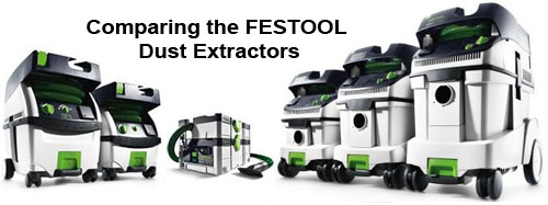 Dust extractor comparison chart