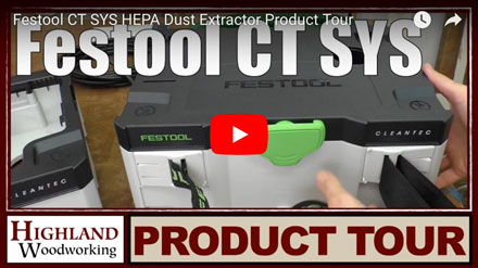 The practical Festool CT-SYS Dust Vac