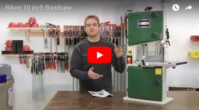 Rikon 10 inch bandsaw tool video