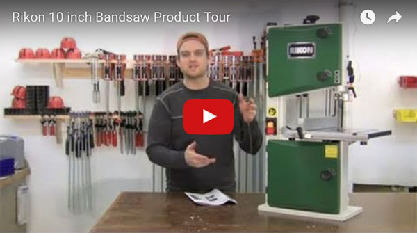 Rikon 10 inch bandsaw video