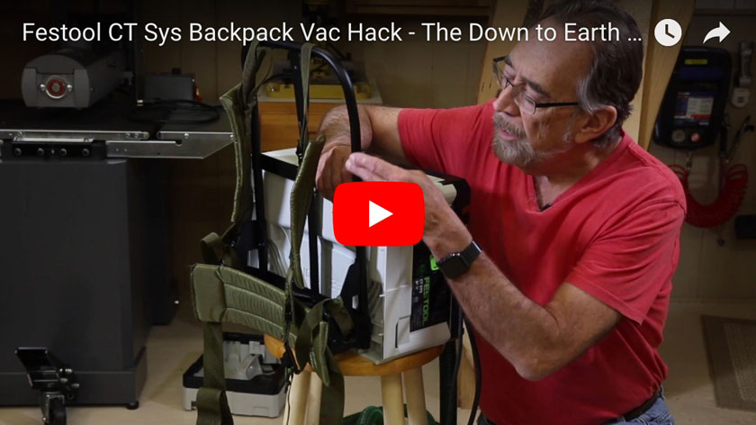 Festool Vac Backpack Hack