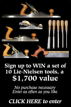 Enter to win a set of 10 Lie-Nielsen Tools