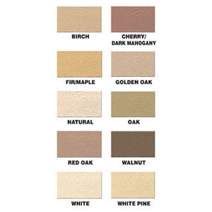 Famowood Wood Filler Solvent Free Color Chart