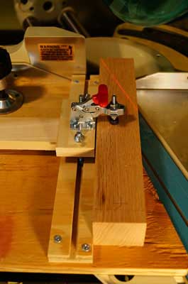 Low-Angle Miter Saw Fixture