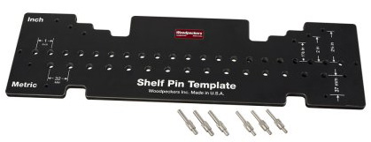 Woodpeckers Combination Shelf Pin Drill Template  162681