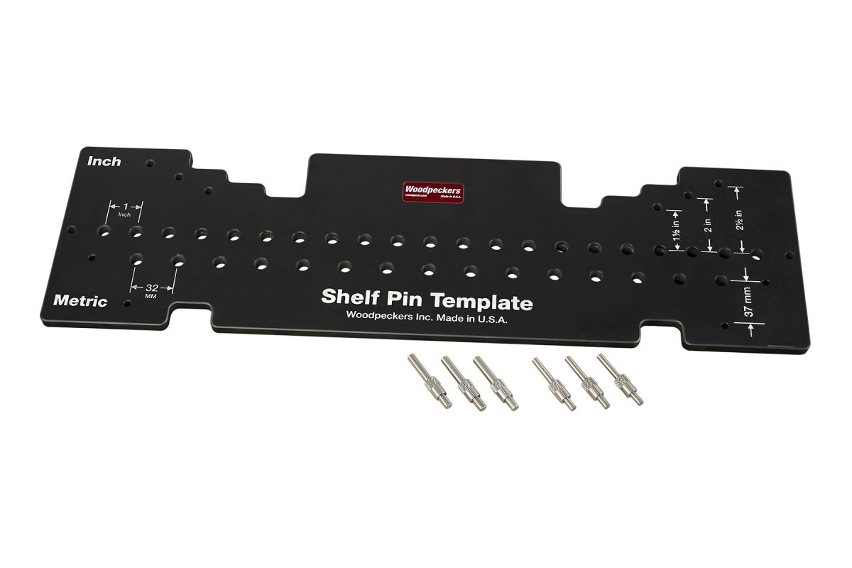 Woodpeckers Combination Shelf Pin Drill Template