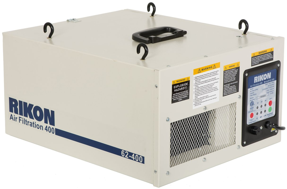 Air Filtration Units : Rikon air filtration system power tools