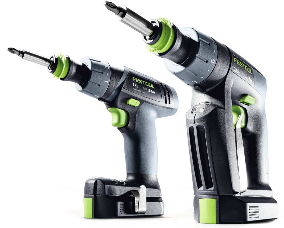 Festool CXS & TXS Compact Cordless Drill Drivers - 2.6Ah ...