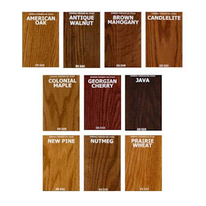 General Finishes Oil Based Gel Stains Color Chart