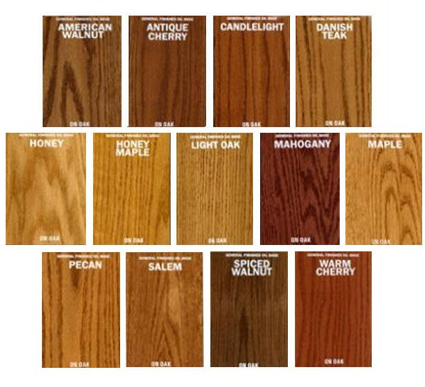 General Finishes Oil Based Stains Color Chart