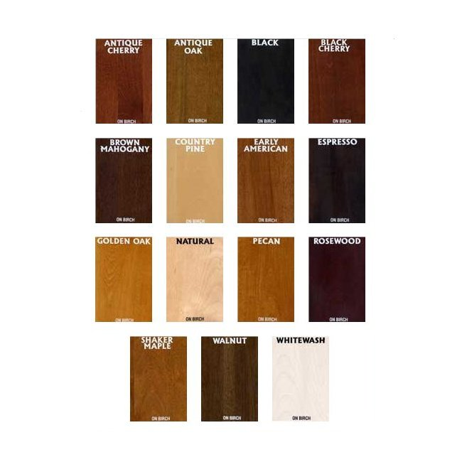 General Finishes Water Based Wood Stains Color Chart
